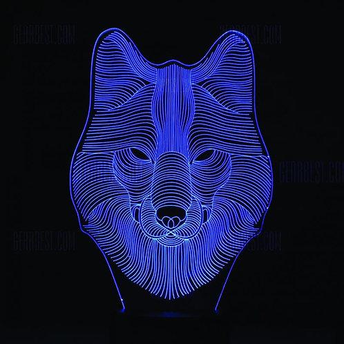 Candeeiro Acrílico Lobo
