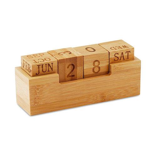 Calendário de secretária em bambu