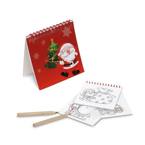 Bloco com figuras de Natal para colorir
