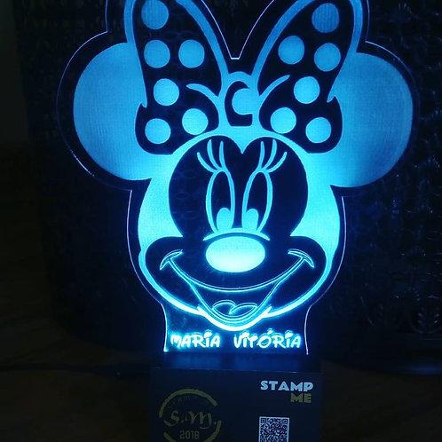 Candeeiro Acrílico Minnie