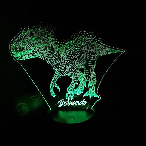 Candeeiro Acrílico Dinossauro T-rex