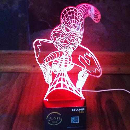 Candeeiro Acrílico Spiderman