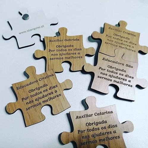 Íman peça puzzle