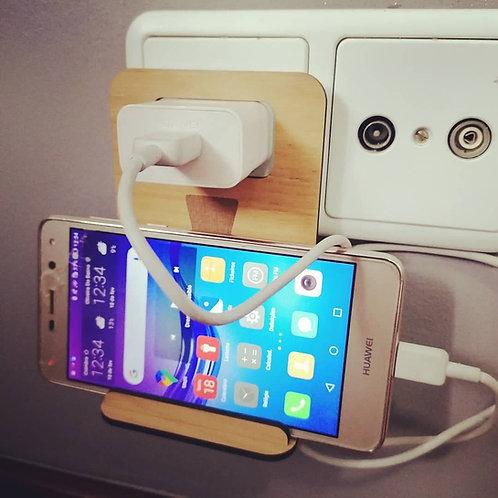 Suporte de telemóvel para tomada