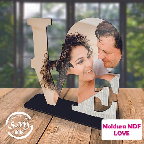 Moldura LOVE com foto