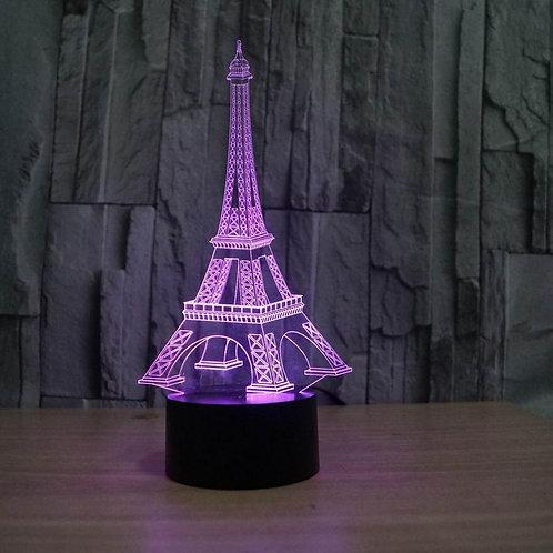 Candeeiro Acrílico Torre Eiffel