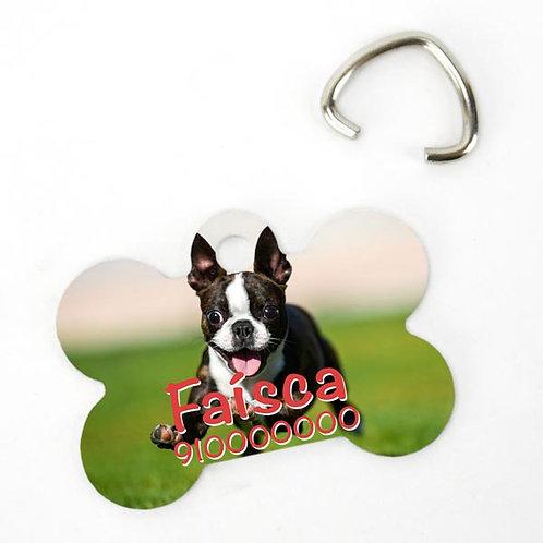 Chapa de identificação para cachorro