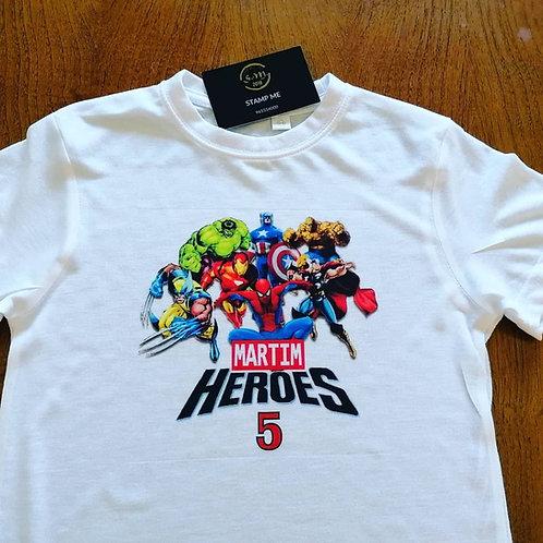 T-shirt super Heróis