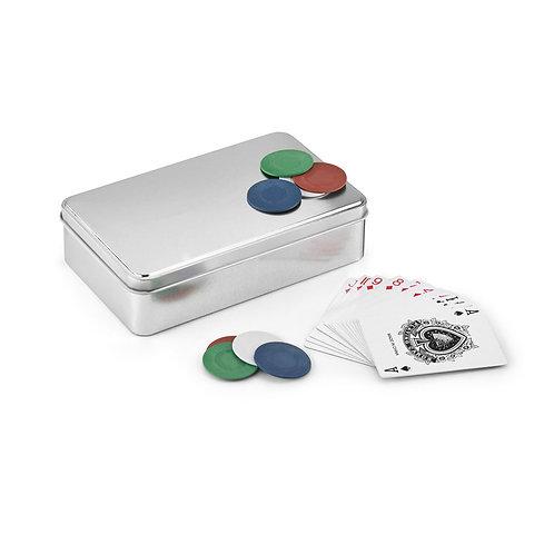 Caixa com jogo Poker