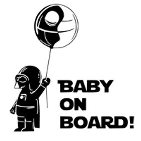 Autocolante vinil baby on board star wars