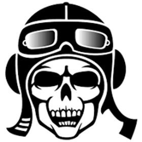 Autocolante vinil skull rider
