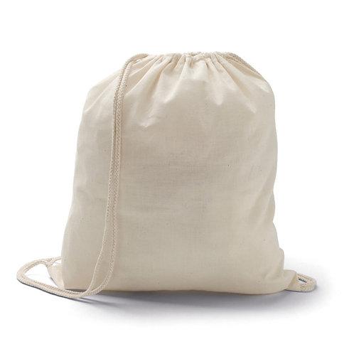 Saco tipo mochila algodão