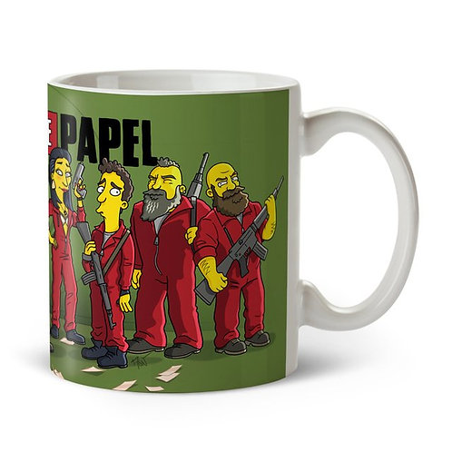 Caneca Casa de Papel - Simpsonized