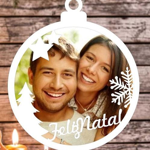 Bolinha de Natal com foto