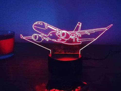 Candeeiro Acrílico Avião
