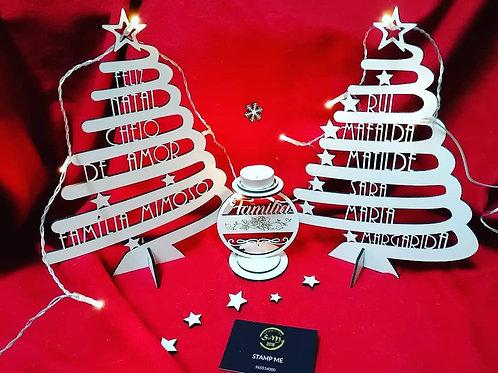 Pinheirinho de Natal com nomes