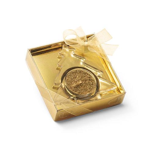 Vela dourada formato de pinheirinho