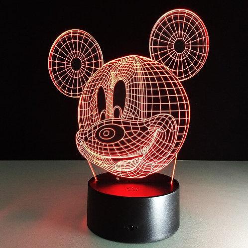 Candeeiro Acrílico Mickey