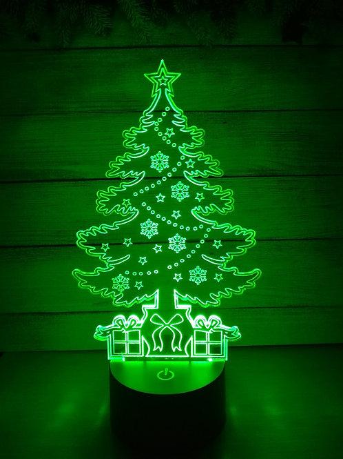 Candeeiro Acrílico árvore de Natal