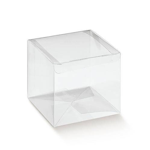 Caixa cubo transparente para bola de Natal