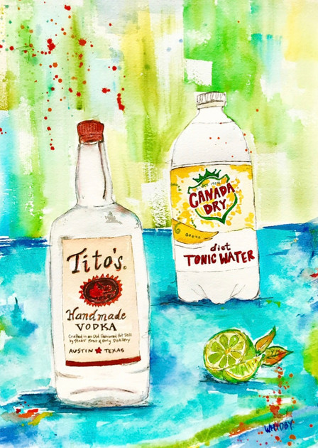 Titos, Diet Tonic & Lime