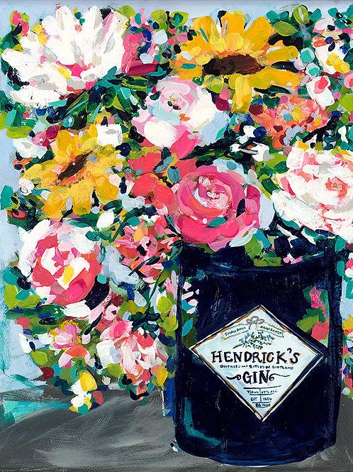 Hendrick's Gin Blooms Print