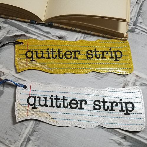 Bookmark - Quitter Strip