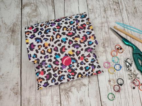 Pop Up Pouch - Rainbow Leopard