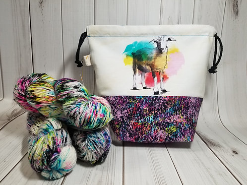 Project Bag Fiber Dyet Collab -Watercolor Goat