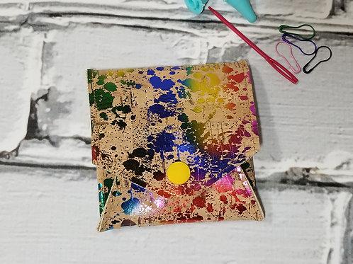 Pop Up Pouch - Rainbow Splatter Cork