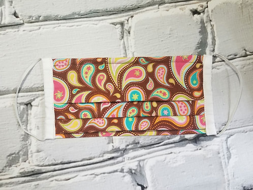 Fabric Dust Mask- Brown Paisley
