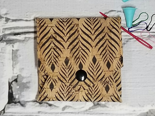 Pop Up Pouch - Leaves on Natural Cork