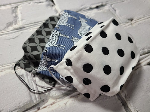 3D Fabric Dust Mask - Zebra Childrens 3 Pack