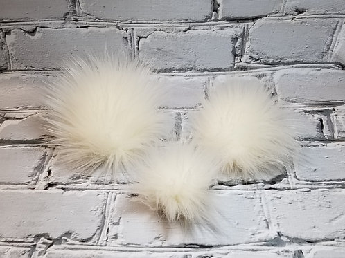 Faux Fur Pom - Creamy Natural