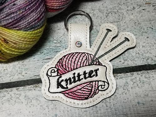 Yarn Ball Knitter Key Chain