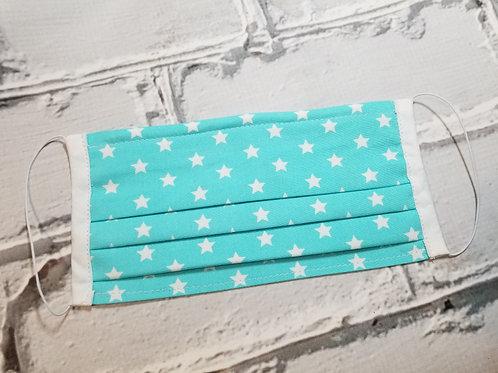 Fabric Dust Mask- Aqua Stars