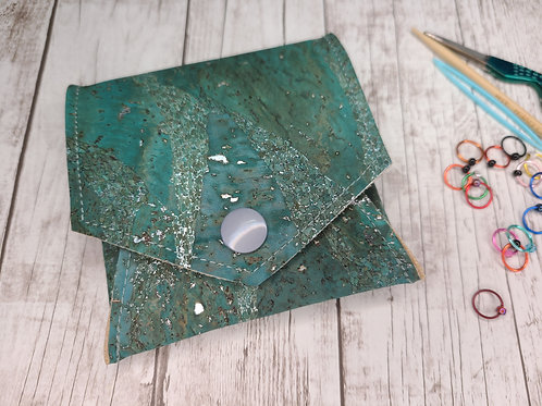 Pop Up Pouch - Jade and Silver Cork
