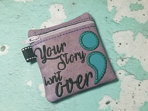 Small Embroidered Zipper Pouch - Your Story