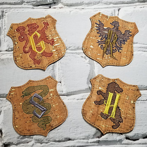 Beverage Coaster - HP House Crests