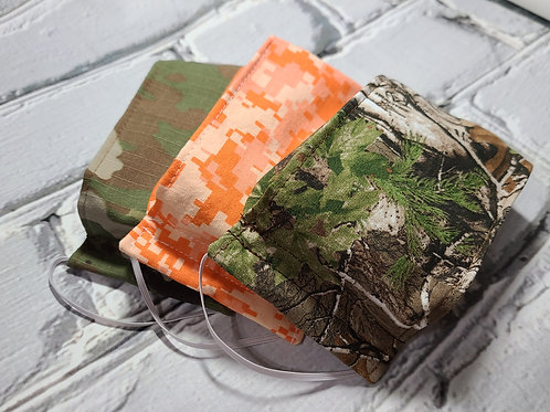 3D Fabric Dust Mask - Camo Childrens 3 Pack