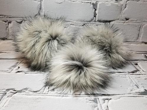 Faux Fur Pom - Silver Fox