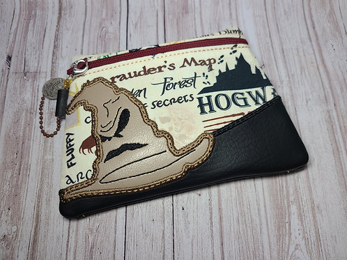 Embroidered Zipper Pouch - Sorting Hat
