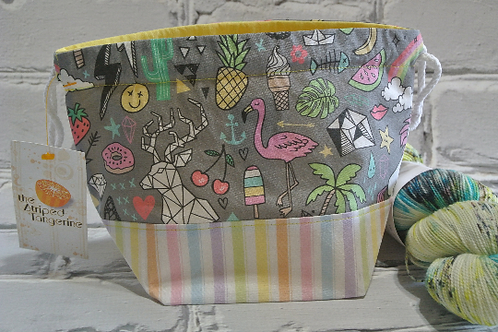 Small Drawstring Project Bag - Doodles