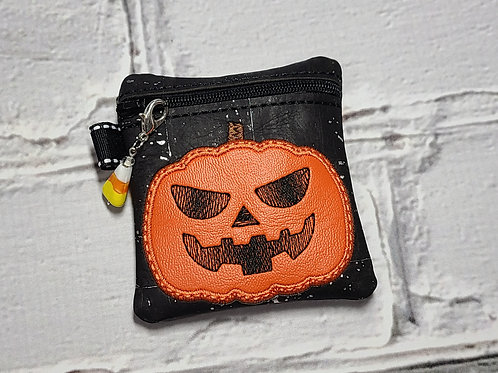 Small Embroidered Zipper Pouch - Spooktacular Jack