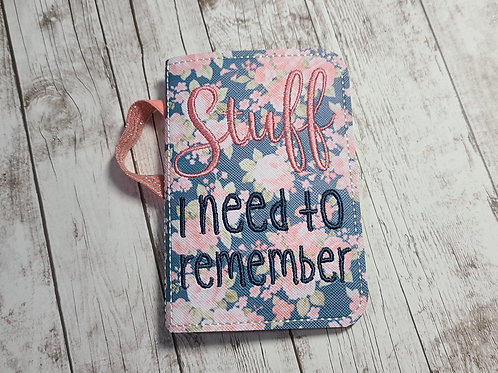 Mini Comp Cover - Stuff to Remember