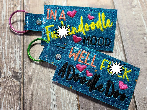 Embroidered Keychain - Eff a Doodle