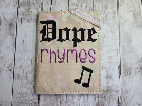 A6 Notebook Cover - Dope Rhymes
