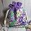 Thumbnail: Drawstring Project Bag - Green & Purple Floral