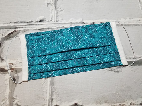 Fabric Dust Mask- Teal Crosshatch