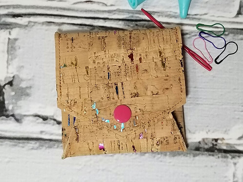 Pop Up Pouch - Rainbow Flecked Cork